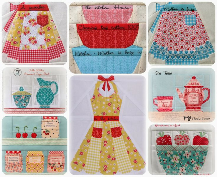 In the kitchen patterns by charise creates charise for Kitchen quilting ideas