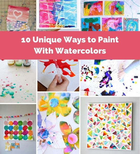 Bright and creative ways to paint with watercolors. #kidsart