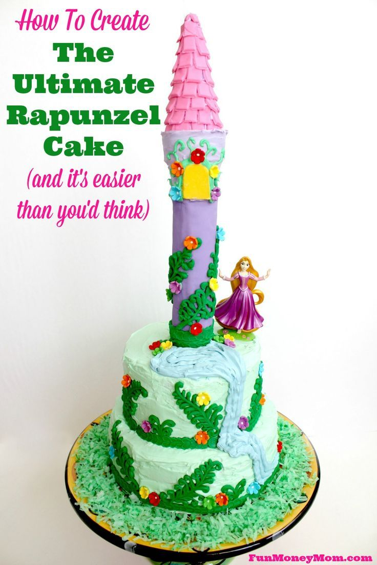 Make it an extra special birthday for your little princess with this amazing Rapunzel cake!