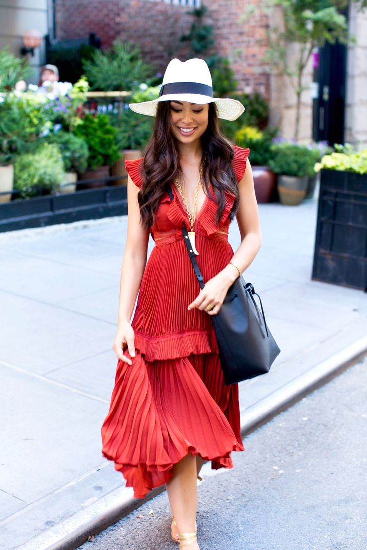 Red summer dress country song 70