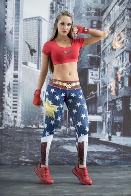 Wonder Woman - Super Hero Leggings - Fiber - Roni Taylor Fit These Wonder Woman Super Hero Leggings from Fiber are great for working out, casual wear or even dressing up for Halloween. You will love these exclusive leggings that are made from the highest quality materials to make sure they look great, feel even better and last longer than you ever thought possible. Limited Edition and once they are sold out they will not be back again!
