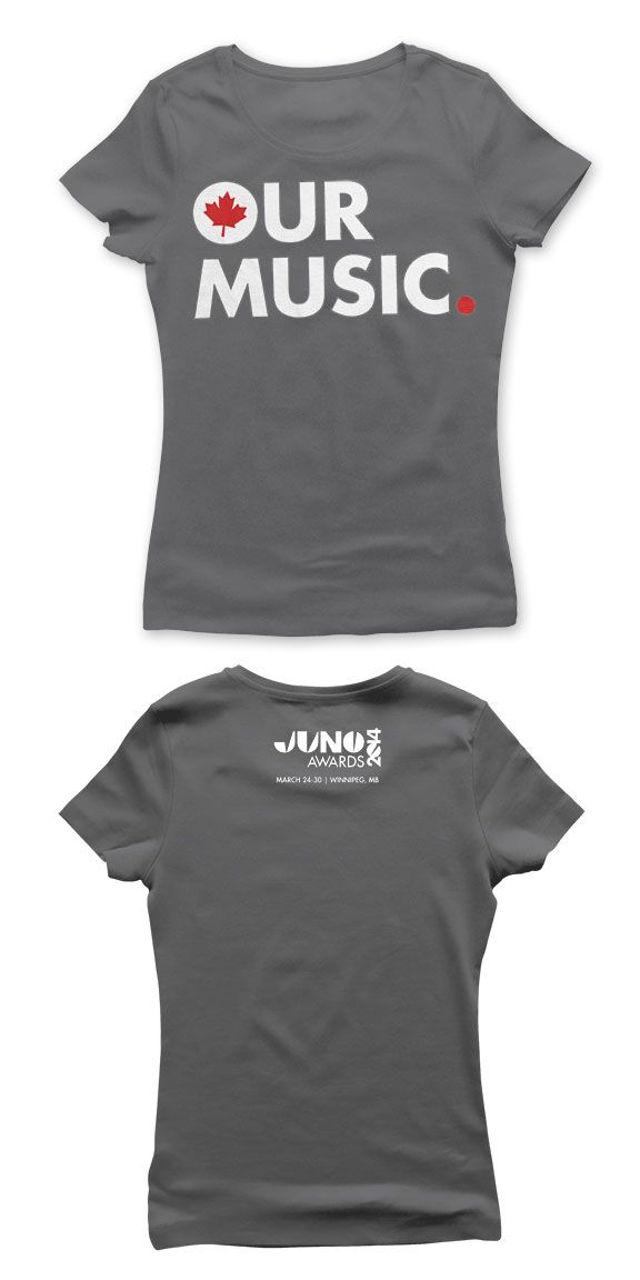 THE JUNO AWARDS Our Music Premium Girls T-Shirt- Charcoal