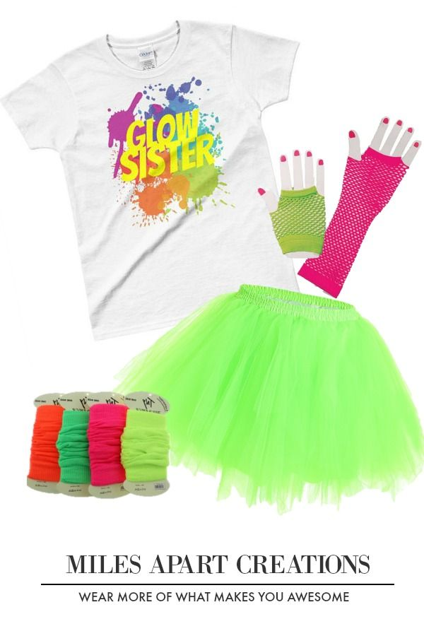 Miles Apart Creations Glow Party Ladies T Shirt