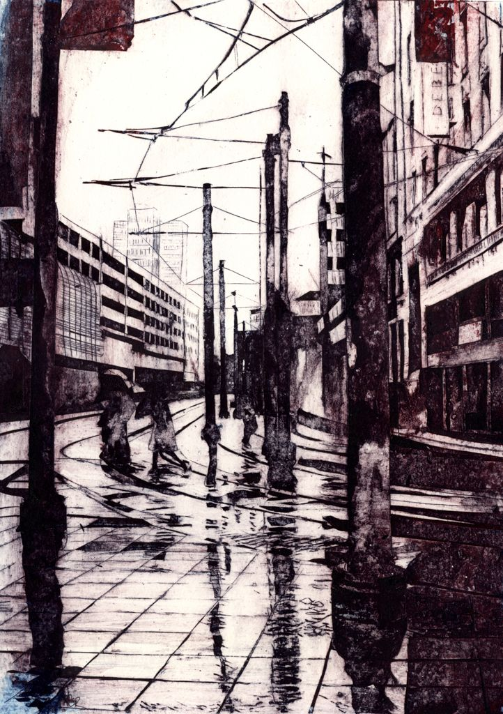 'Arndale: Manchester Pete Rees Collograph Print