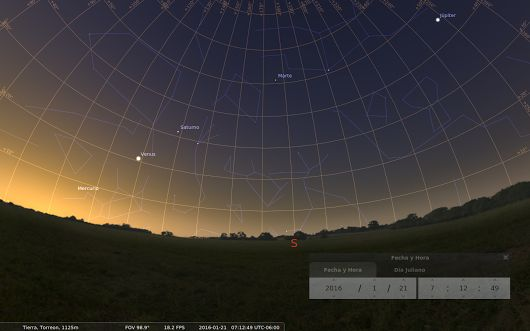 Cinco planetas alineados para comenzar el 2016 | LinuxmanR4