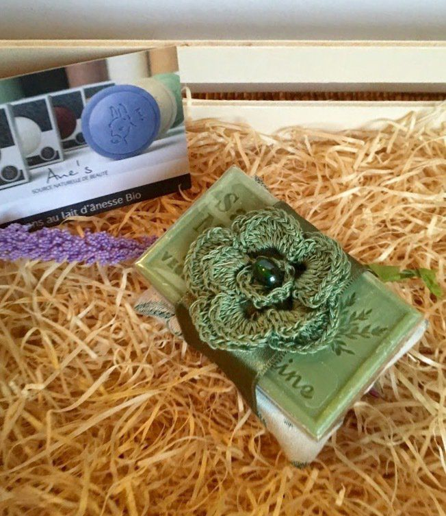 Sapone alla verbena di Provenza con cuscinetto verde, by L' Atelier di Trame Preziose, 7,00 € su misshobby.com