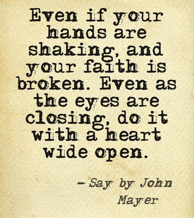 """Say,"" John Mayer lyrics"