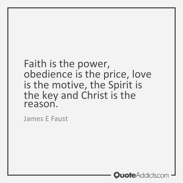 Image result for obedience is the price faith is the power