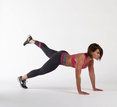 6. Bear Plank Leg-Lift - 45-60sec. Left leg at 90 deg. before lifting the right one - photo inaccurate