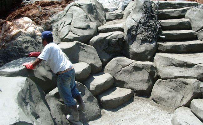 concrete faux stone steps - Google Search