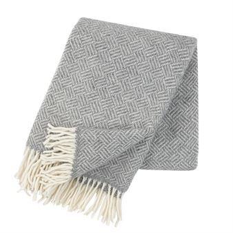 Samba ullpläd - grå - Klippan Yllefabrik