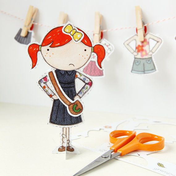 Clara Paper Doll Dressup Doll  The Signature by cupcakesforclara, £3.95    Ooooh, I just LOVE this!   My favourite thing as a little girl was paper dolls!