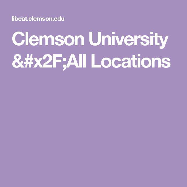 Clemson University /All Locations