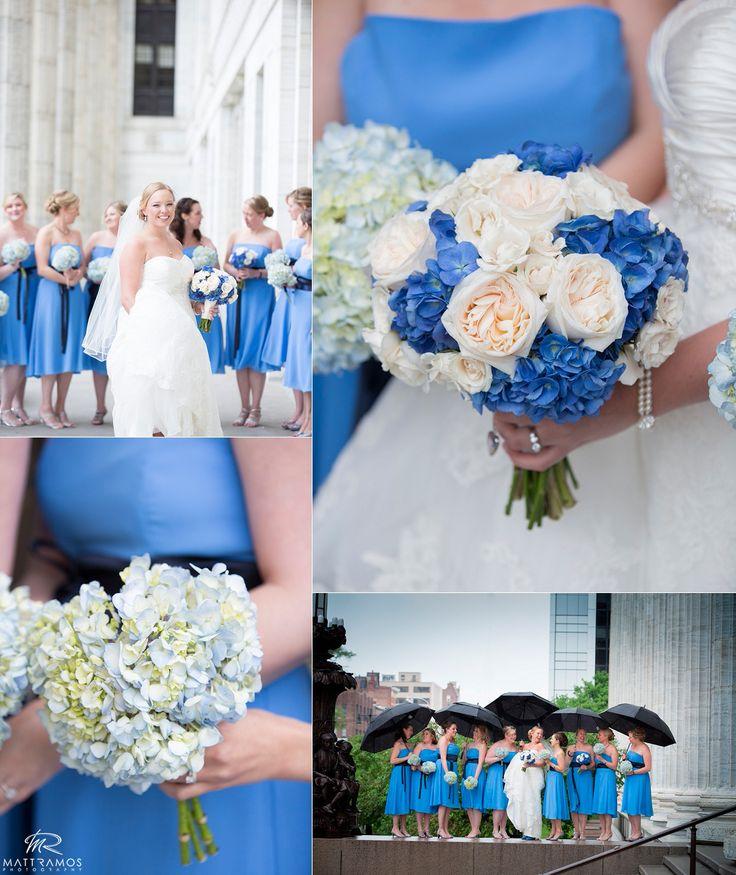 Bridesmaids blue © Matt Ramos Photography