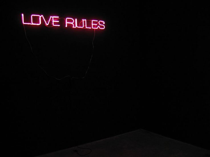 Archillect on twitter love rules visual poetry neon words