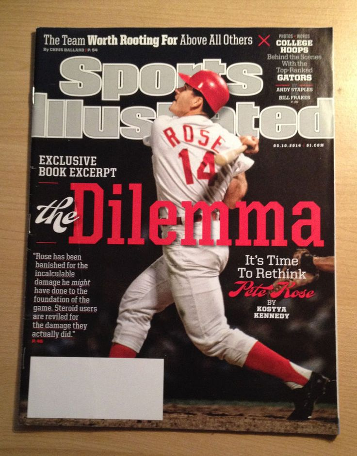 Pete Rose Sports Illustrated March 10th 2014 Cover The Dilemma Cincinnati Reds