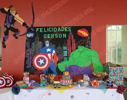 Resultado de imagen para decoración de avengers