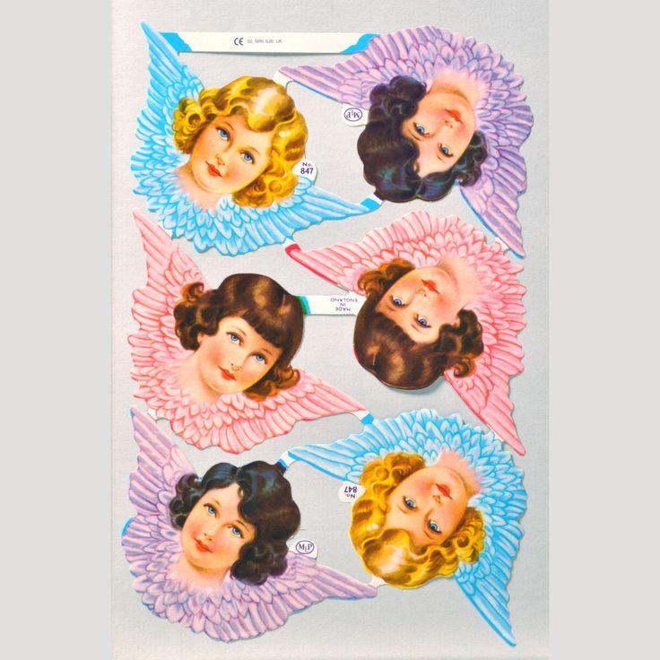 Angel Heads Scrap Sheet 1