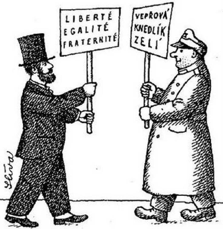 Svejkismus: food versus political agenda