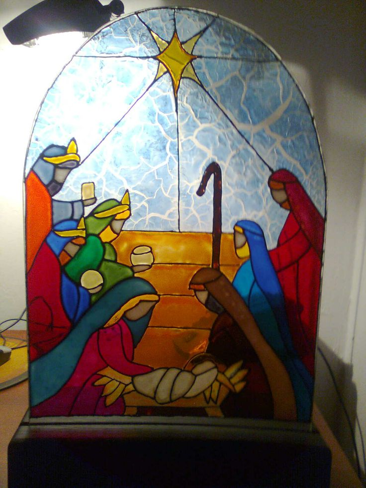 Pesebre en Falso Vitral
