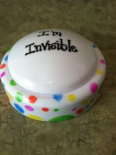"""""""I'm Invisible"""" push light. Turn it on when you're working with students so that they know when it's not ok to interrupt."""