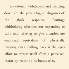Emotionally Shutting Down
