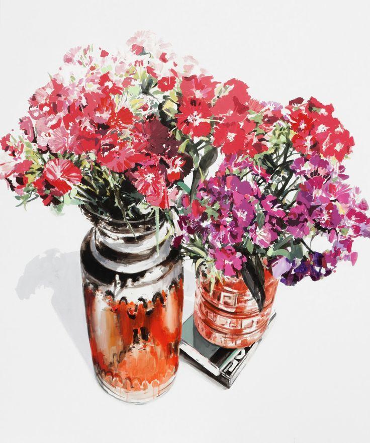 Dane Lovett 'Flower painting'