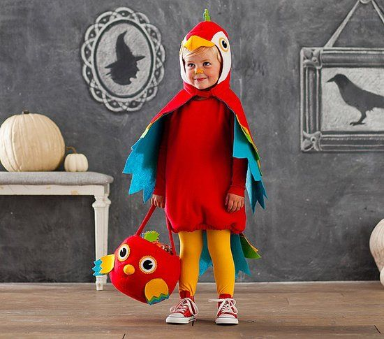 Animal Halloween Costumes For Kids | Pottery Barn Kids' unisex parrot costume ($59) come in sizes for kids ages 1-8