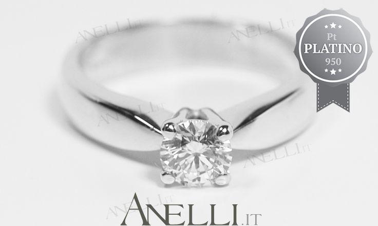 Anello in Platino con Diamante di 0.40 carati colore D purezza VS1 2290€ iva inclusa http://www.anelli.it/it/anelli-solitario/solitario-in-platino-con-diamante-0-40-carati-d-vs1.html #platino #anelloplatino #anelliplatino #acquistoplatino #prezzoplatino