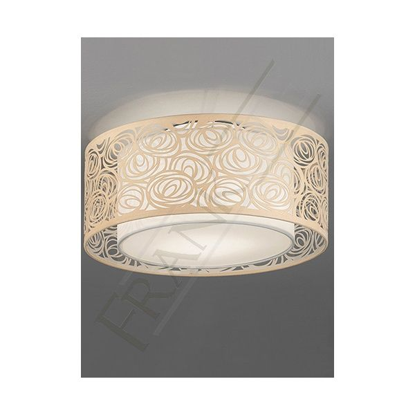 Divine ultra modern ceiling light with a cream laser cut shade comes from the high quality franklite abstract range