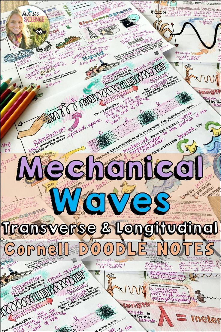 Waves Mechanical Cornell Doodle Notes And Powerpoint In 2020 Doodle Notes Science Teaching Resources Note Taking Strategies