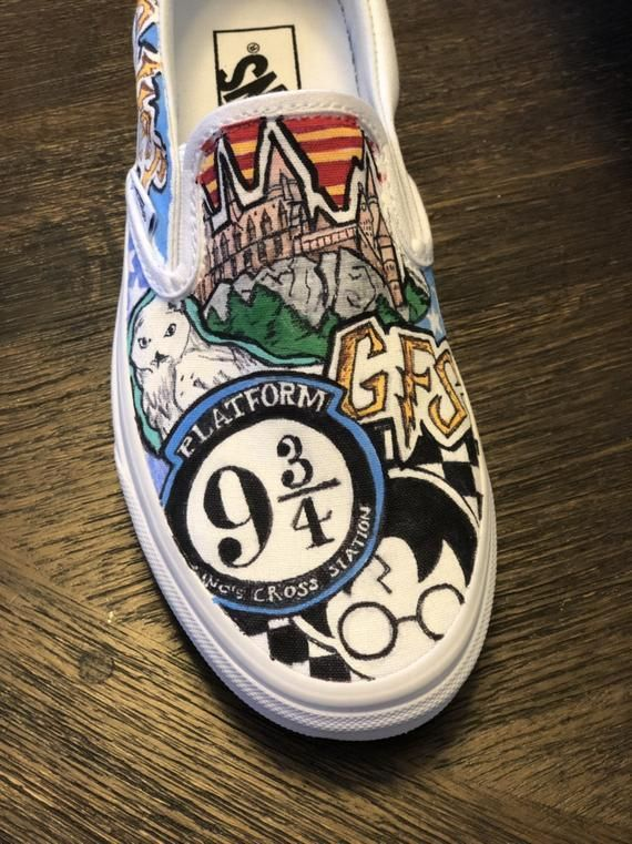 Pin by sienna rose on Vans   Harry potter shoes, Harry potter ...