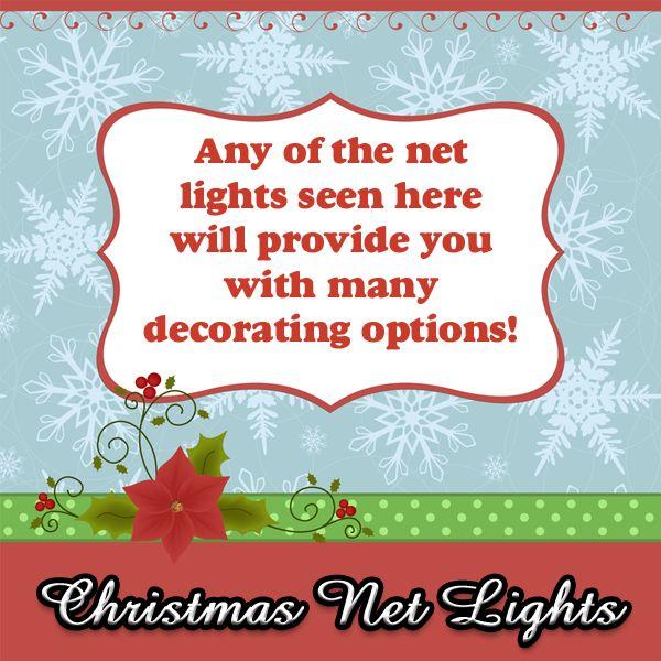 A nice selection of Christmas net lights #christmas #net #lights #christmastlights #christmasnetlights #netlights