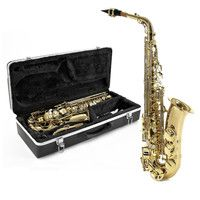 Gear4Music Alto Saxophone by Gear4music Light Gold An incredibly stylish alto saxophone with a classic light gold body finish and keywork giving you a great combination of sound and style at an incredibly competitive price. Superb quality outfit inclu http://www.comparestoreprices.co.uk/saxophones/gear4music-alto-saxophone-by-gear4music-light-gold.asp
