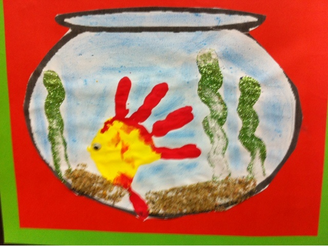 Kids Art Fish Tank Art School Projects Learning