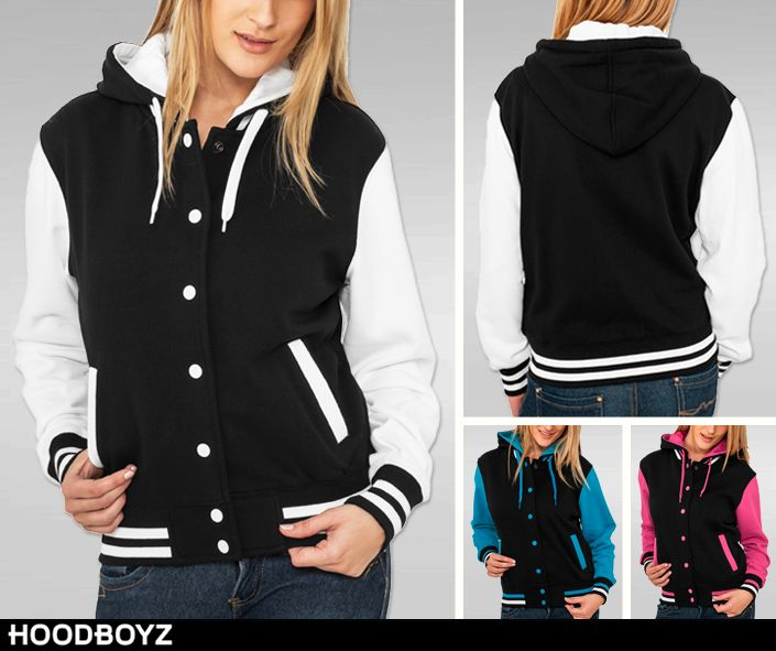 HOT DEAL: Urban Classics Ladies Hooded College Sweatjackets in 3 colorways for burnin' hot 21,15 Euro (-58%) ➡ http://bit.ly/1V4z1OP