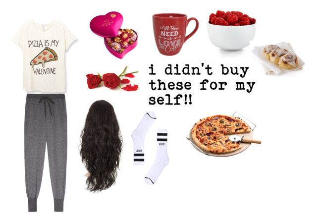 """""""my valentines day"""" by netball-272 ❤ liked on Polyvore featuring Clu, Godiva, HUF, The Cellar, women's clothing, women's fashion, women, female, woman and misses"""