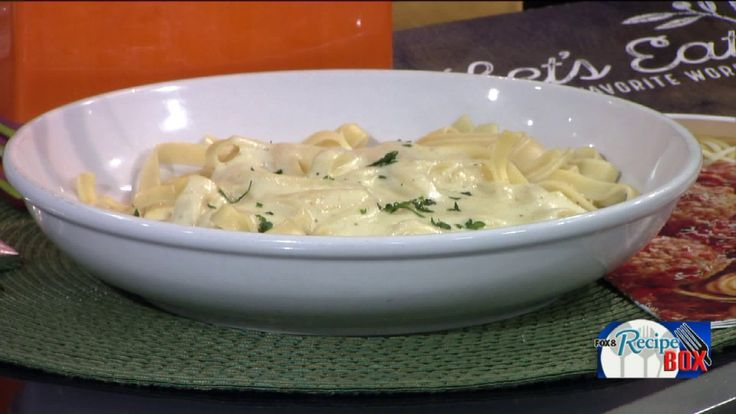 CLEVELAND, Oh -- In honor of National Pasta Day, Ryan Watts from the Olive Garden Restaurant located in Beachwood shared one of the restaurant's most popular recipes with Fox 8's Wayne Dawson. After learning how to make Fettucine Alfredo, Wayne then got a lesson in how to build a 'pasta bar' - Olive Garde style.
