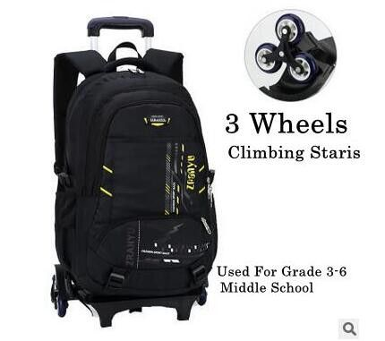 Brand Kids Trolley School bags for boys Children luggage trolley Bag On wheels Trolley Suitcase School Rolling Backpacks For Kid