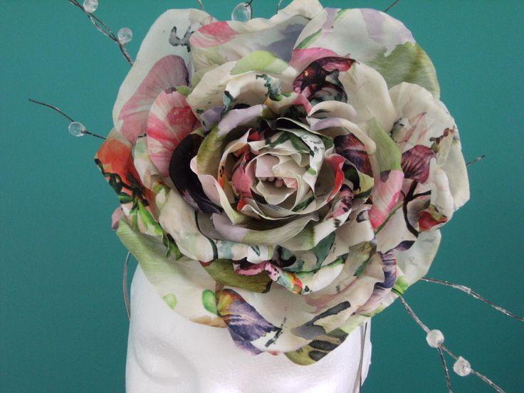 Hand Tooled #Silk Flower Headdress. #Milliner: Toni Spence #Toowoomba