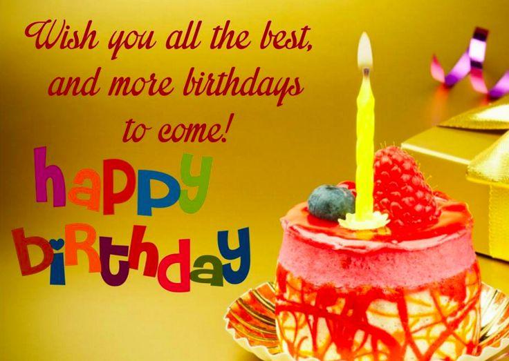 Happy Birthday Pics And Wishes Happy Birthday Pinterest - Birthday cake wishes quotes