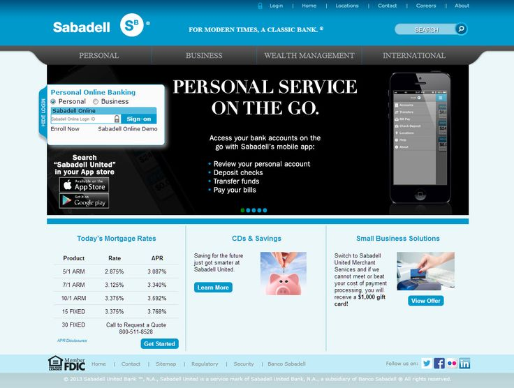 Website for Sabadell
