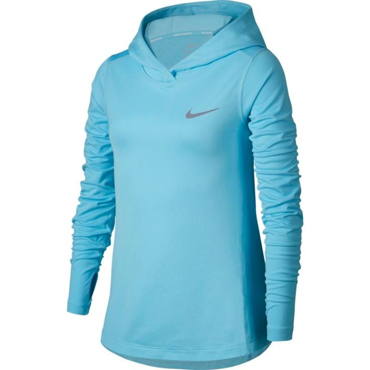 Nike Girls' Running Hoodie, Size: Large, Blue