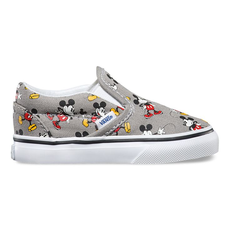 Vans Kids Disney Classic Slip Shoes - Mickey / Frost Grey