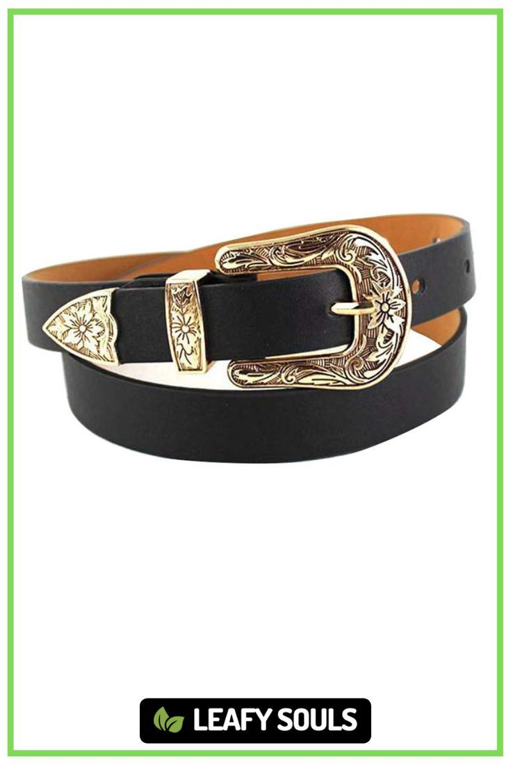 This ethically made belt with a leather like look is