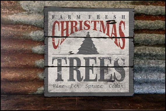Farm Fresh Christmas Trees - Handcrafted Rustic Wood Sign - Original Alpine Graphics Design - Choose a Size - 2027