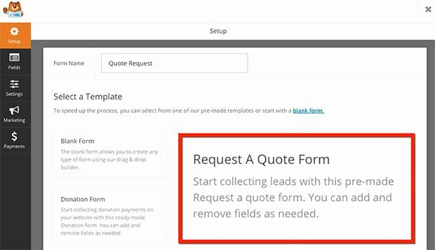 Quote Request Form Template Luxury How To Create A Request A Quote Form In Wordpress Quote Request Form Quotes Name Quotes