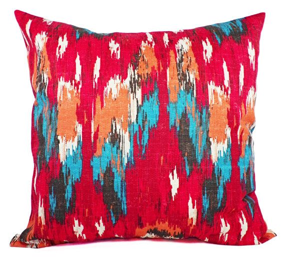 Red Throw Pillow Covers  Two Red and Blue by CastawayCoveDecor, $30.00