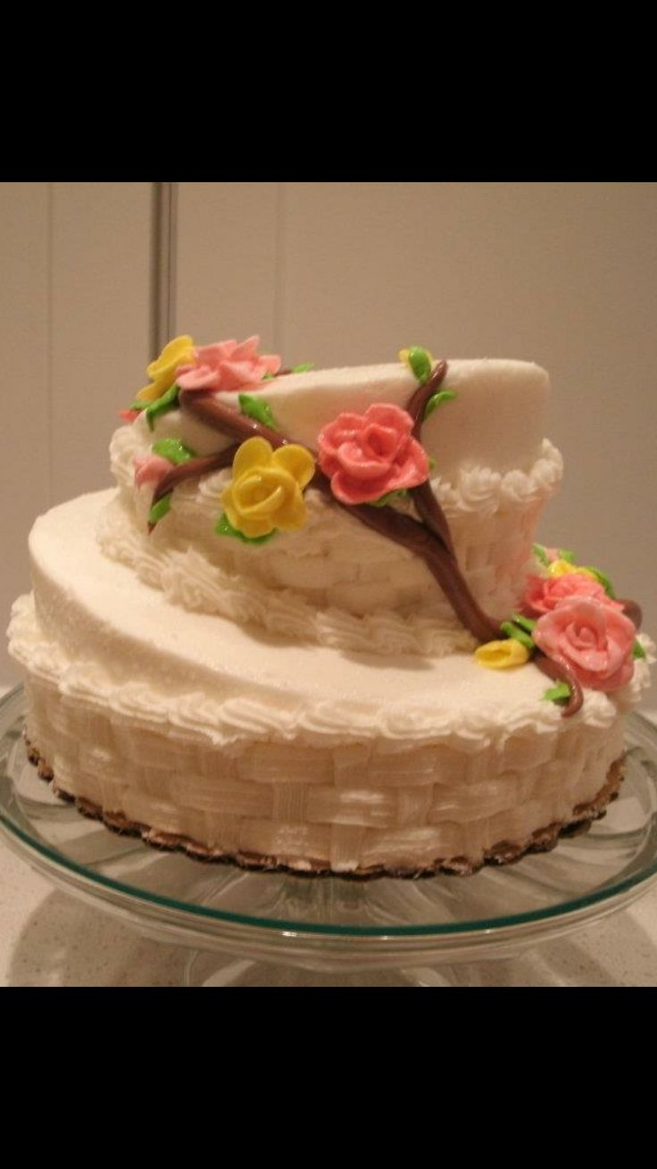Topsy turvey cake with laffy taffy roses