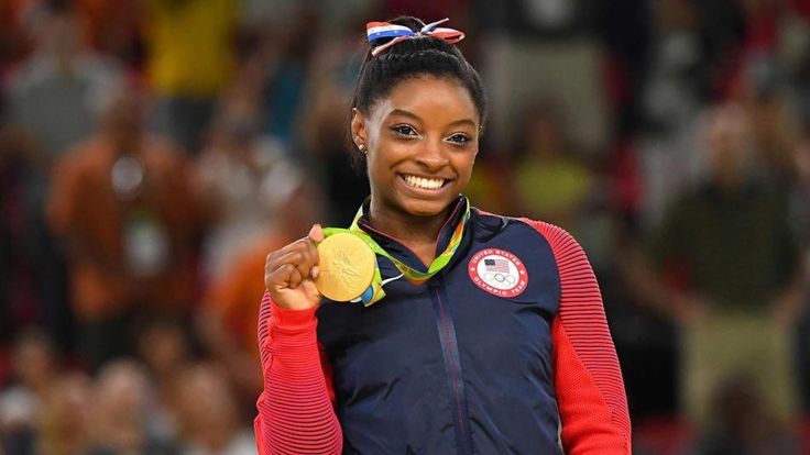 Gymnast Simone Biles at the 2016 Rio Olympic Games.